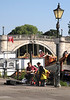 Buskers by the river at Richmond Upon Thames Surrey