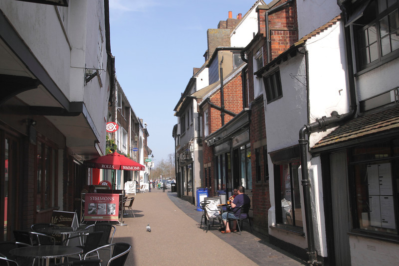 French Row alley in St Albans city centre Hertfordshire