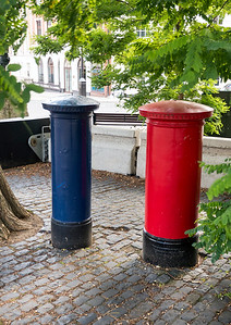 Blue post box