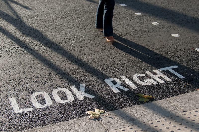 Look Right Sign, London
