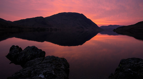 Crummock Lake sunset, Lake District National Park