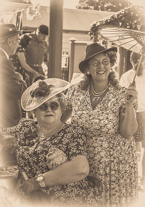 Ladies at the  station