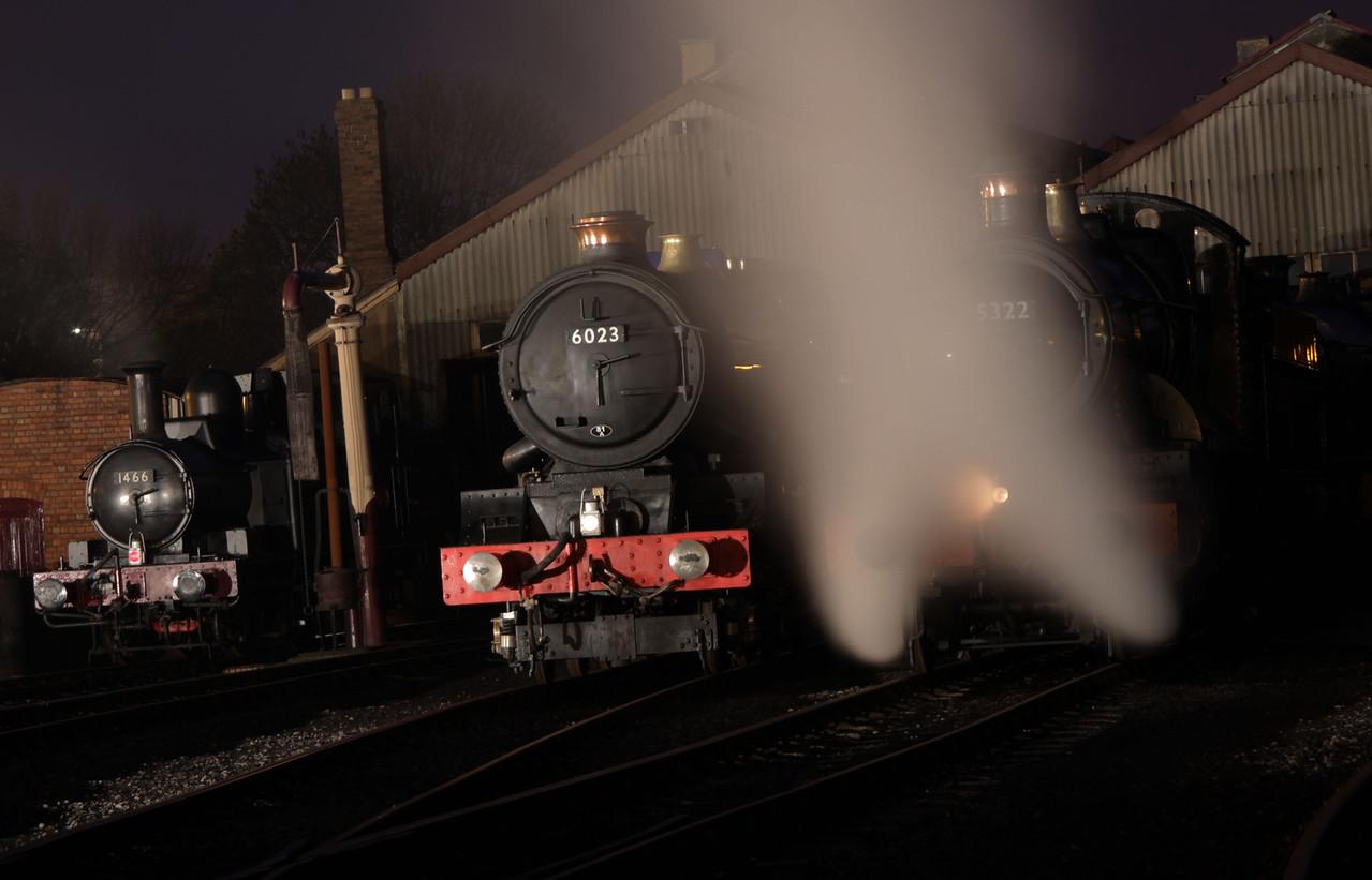 G.W.R. Class 1400 0-4-2T No 1466     Class King 4-6-0 No 6023 King Edward 11   Class 4300 2-6-0 No 5322