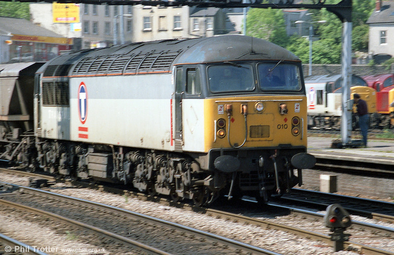 56010 on an mgr train at Newport in May 1996.