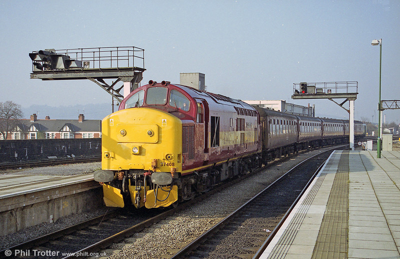 37408 'Loch Rannoch' on a Valley Lines service at Cardiff Central.