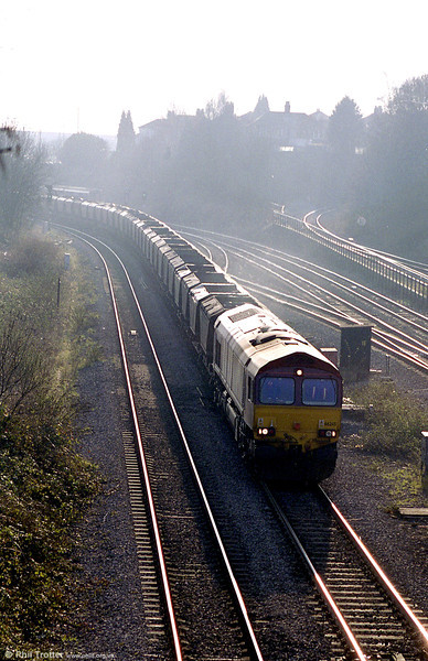 66245 approaches Newport Gaer Tunnel in the late afternoon sunshine of 2nd February 2001