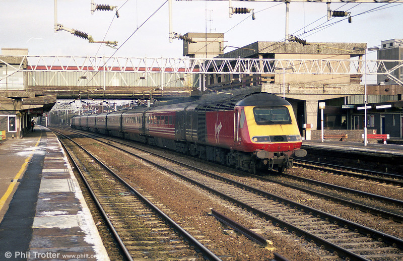 VXC 43123 heads through Stafford on 2nd March 2001.