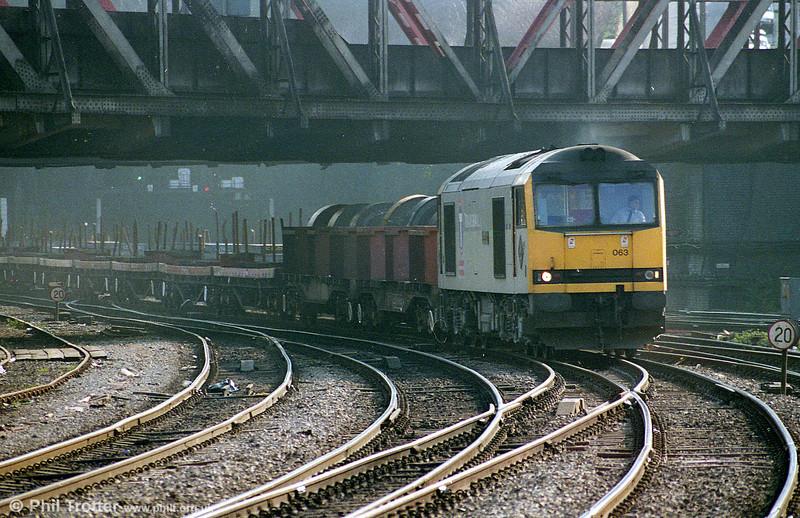 60063 'James Murray' heads through Newport during 1996.