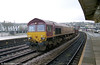 66210 passes through Newport on 2nd February 2001.
