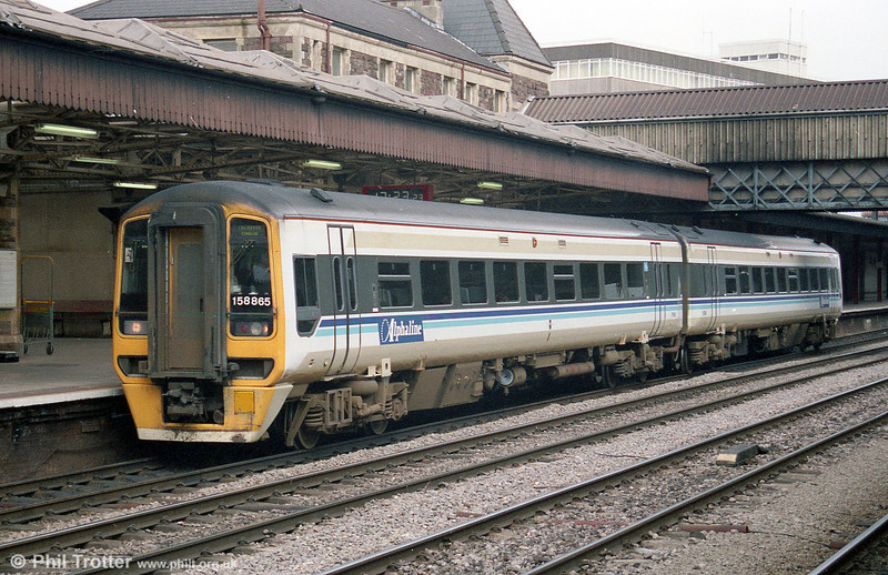 Wales & West 158865 calls at Newport.