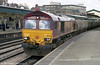 66242 passes through Newport with fuel for Cardiff Canton depot in 2001.