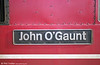 Nameplate of 87013 'John O'Gaunt' at Stafford in 2003.