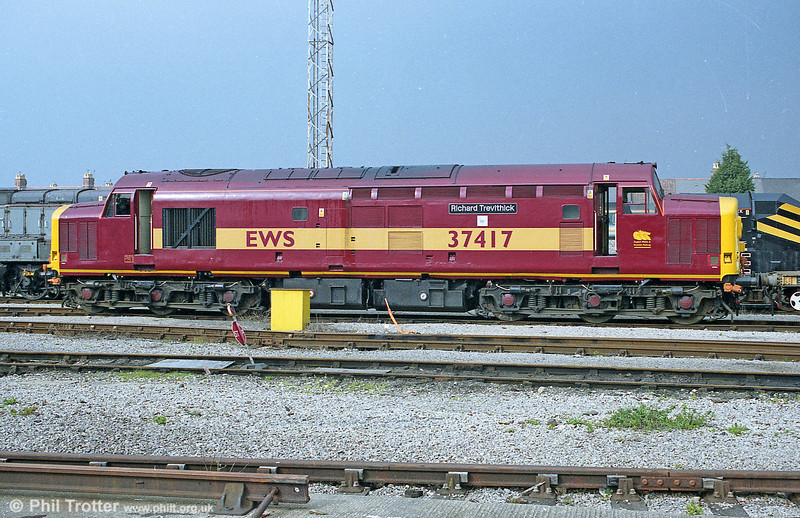 Sparkling 37417 'Richard Trevithick at Cardiff Canton.
