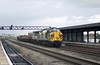 37038 passes through Swindon with an engineers' train.