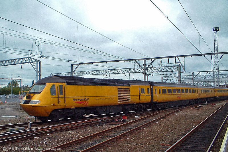 43062 heads Network Rail's New Measurement Train through Crewe on 8th October 2003.