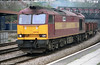 60048 'Eastern' passes through Newport with steel empties.