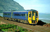158752 in North Western livery skirts the North Wales coast at Penmaenmawr.