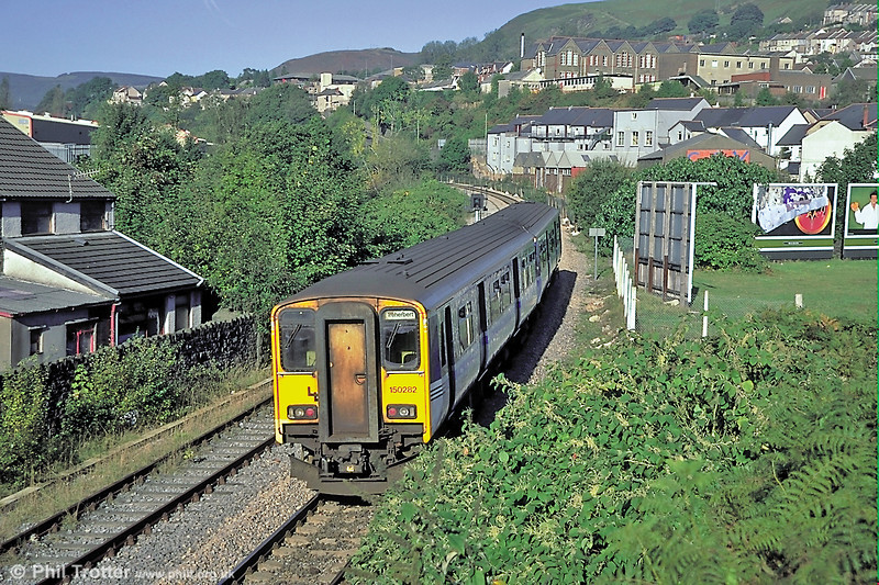 150282 heads away from Porth forming a Valley Lines service for Treherbert during 2003.