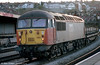 LoadHaul liveried 56055 heads through Newport on 16th January 1998.