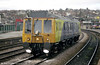 Former class 121 'Bubble Car' 55025, now Video Survey Unit 960011 'Pandora' in action at Newport in 2001.