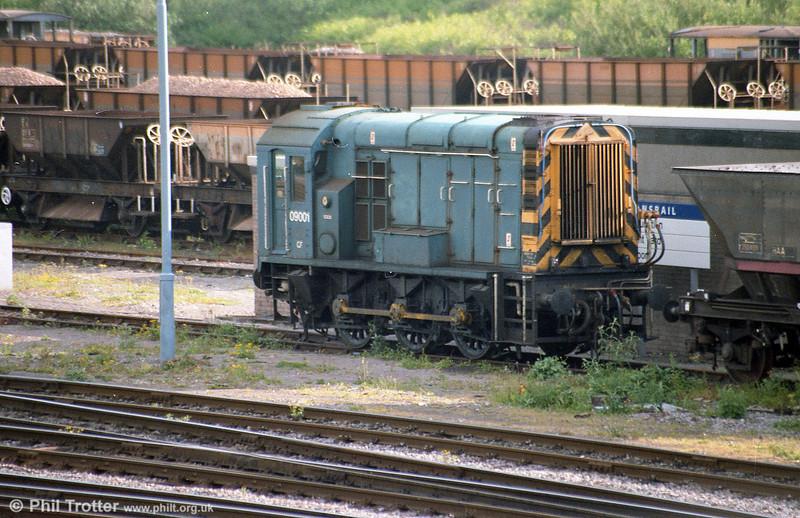 1959-built class pioneer 09001 seen at Newport, Alexandra Dock Junction.