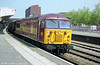 56119, now in EWS livery, heads west through Newport with an mgr during 1998.