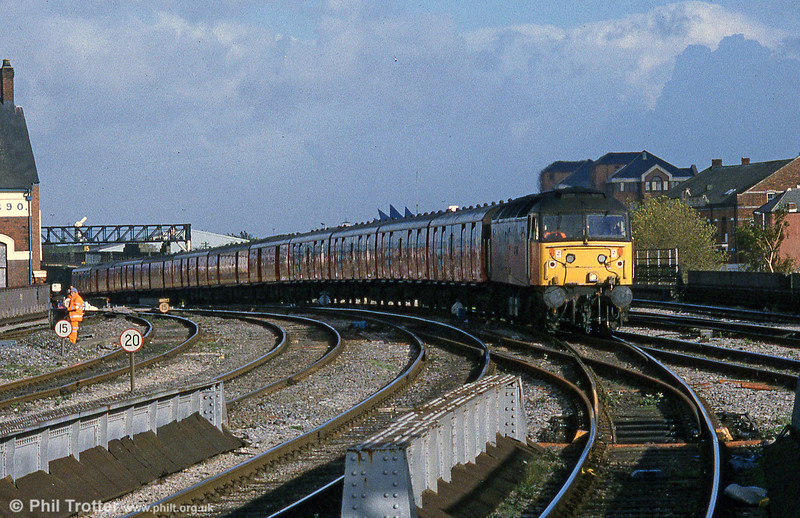 47769 'Resolve' with a substantial mail train at Cardiff Central on 23rd October 1998.