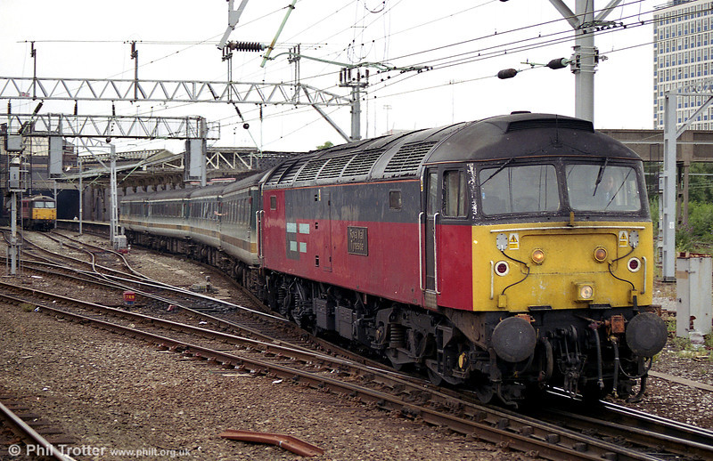 47756 'Royal Mail Tyneside' departs from Crewe in August 2003.