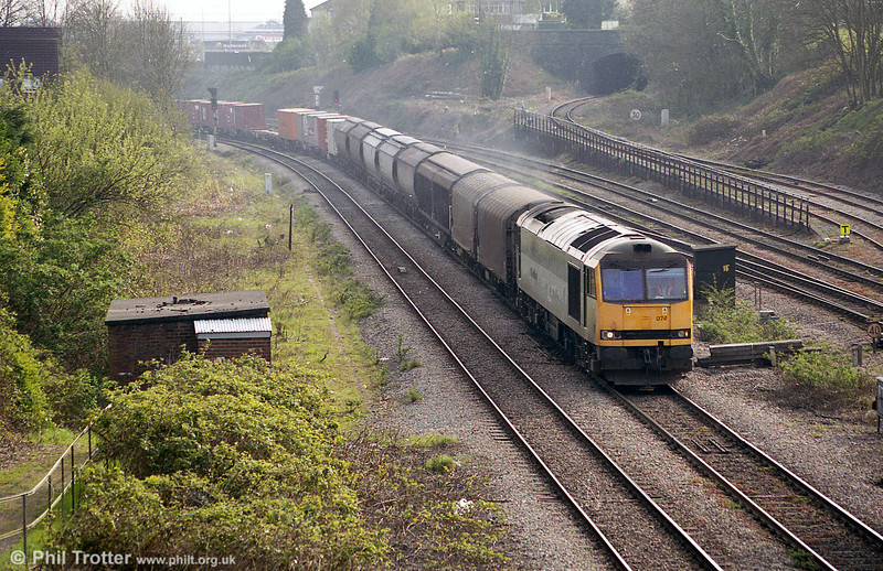 60074 passes Gaer Junction with an 'Enterprise' service.