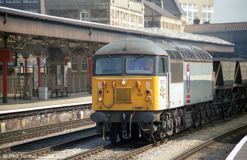 56113 passes through Newport with an mgr train in May 1995.