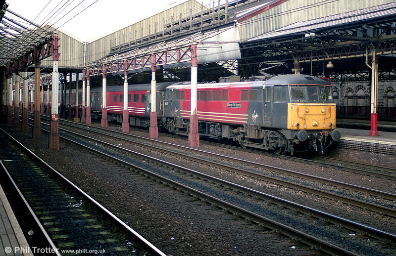 86240 'Bishop Eric Treacy' pauses at Crewe en route for London Euston on 2nd March 2001.