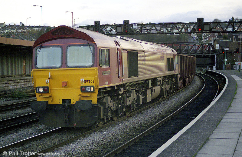 59203 'Vale of Pickering' heads through Newport.