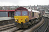 66190 at Newport in February 2001. This loco was transferred to France as part of the Euro Cargo Rail fleet during 2007.