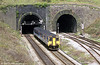 150267 exits Newport Tunnel at Gaer Junction on 9th April 2002.