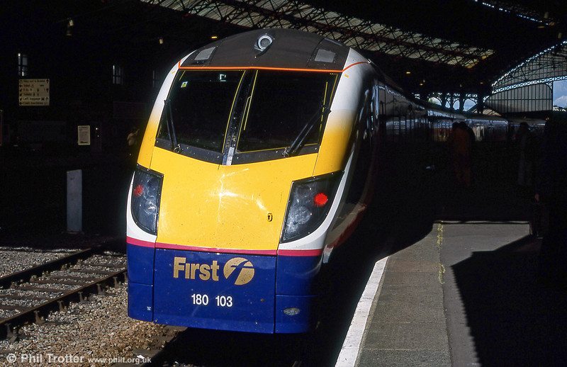 180103 at Bristol Temple Meads on a staff familiarisation run in September 2001.