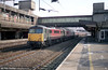 87014 'Knight of the Thistle' passes through Stafford on 2nd March 2001.