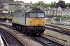 47049 runs light through Newport on 9th June 1995. This loco was cut up at Wigan in 2000.