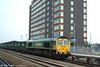 66551 passes Swindon heading 4V60, 1055 Calvert to Bath and Bristol empty Avon 'Binliner' on 3rd October 2003.