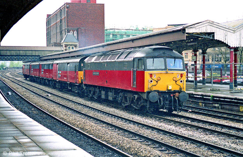 47640 'University of Strathclyde' passes Newport with a postal train for Swansea.