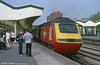 Virgin XC 43070 fails to attract the attention of 'gricers' at Newport with a cross-country service for Swansea in September 2001.