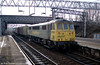 86501 at Stafford on an intermodal on 2nd March 2001.