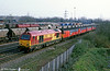 67001 passes Newport ADJ with the postal from Swansea on 13th March 2000.