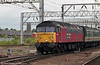 Nowadays a Colas loco, 47749 'Atlantic College' seen at Crewe.