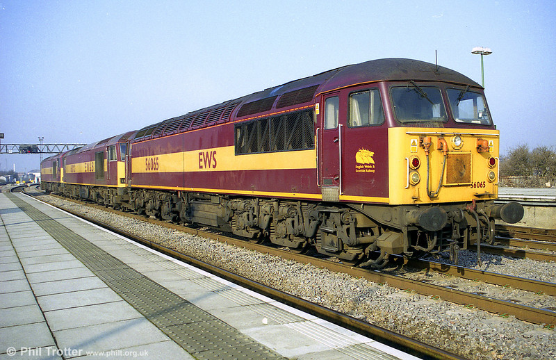 56065 in convoy at Cardiff Central
