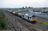 60035 'Florence Nightingale' passes Severn Tunnel Junction with 6B13, Robeston to Westerleigh in October 2000.