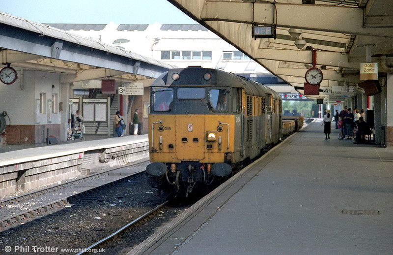 31514 and a sister loco head a short engineers' train through Derby.