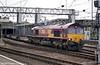 66219 runs through Crewe during August 2003.