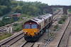 66243 heads a trio of class 66s through Magor on 10th September 2005. (66053 brings up the rear!).