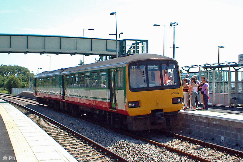 143602 at the new station at Llantwit Major with the 1248 Cardiff to Bridgend service on 16th July 2005.
