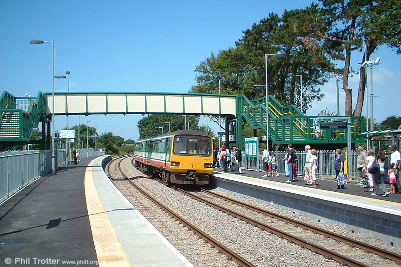 Class 143 no. 143616 calls at the new station at Llantwit Major with the 1254 Bridgend to Caerphilly on 16th July 2005.